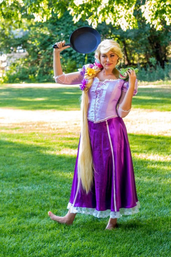 Rapunzel with a frying pan